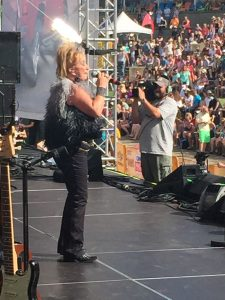 "Tanya Tucker sings ""Delta Dawn"" to a crowd of thousands at the 2015 CMA Fest Riverfront Stage. It was her first Nashville concert in almost a decade."
